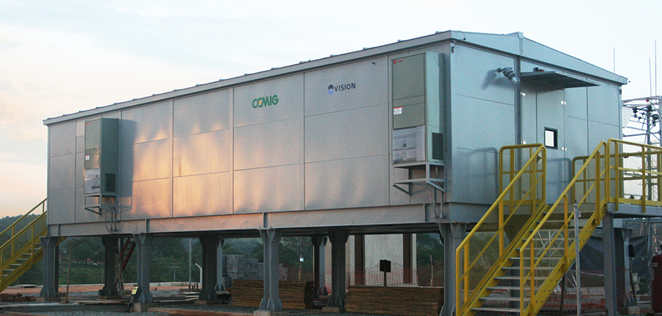 VISION completed assembly of the first substation of CEMIG to use Eletrocentro